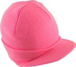 View Buying Options For The Classic Plain Visor Billed Beanie Sock Cap