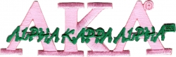 View Buying Options For The Alpha Kappa Alpha Script Iron-On Patch