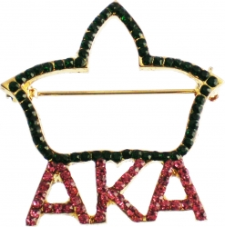 View Buying Options For The Alpha Kappa Alpha Rhinestone Ivy Leaf Cut-Out Lapel Pin