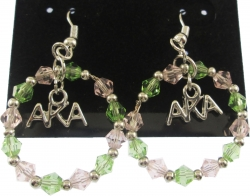 View Buying Options For The Alpha Kappa Alpha Crystal Circle Earrings