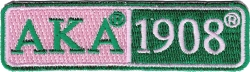 View Buying Options For The Alpha Kappa Alpha 1908 Split Bar Iron-On Patch