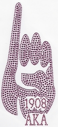 View Buying Options For The Alpha Kappa Alpha Hand Sign Rhinestud Heat Transfer