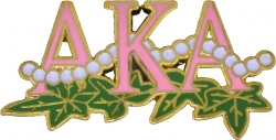 View Buying Options For The Alpha Kappa Alpha 20 Pearl Ivy Leaf Lapel Pin