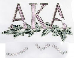 View Buying Options For The Alpha Kappa Alpha 20 Pearl Ivy Leaf Rhinestud Heat Transfer