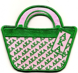 View Buying Options For The Alpha Kappa Alpha Purse Shaped Luggage Tag