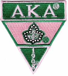View Buying Options For The Alpha Kappa Alpha Military Style Iron-On Patch