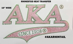 View Buying Options For The Alpha Kappa Alpha Athletic Tail Rhinestud Heat Transfer
