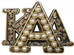 View Buying Options For The Alpha Kappa Alpha Stacked 3D Letter 20 Pearl Lapel Pin