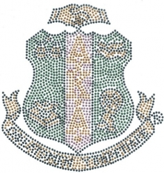 View Buying Options For The Alpha Kappa Alpha Crest Full Color Rhinestud Heat Transfer