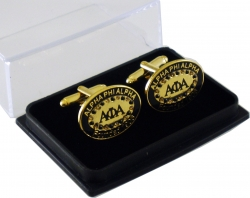 View Buying Options For The Alpha Phi Alpha Rhinestone Oval Mens Cuff Links