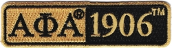 View Buying Options For The Alpha Phi Alpha 1906 Split Bar Iron-On Patch
