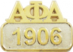 View Buying Options For The Alpha Phi Alpha 1906 Sandblasted Polished Lapel Pin