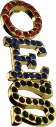 View Buying Options For The Eastern Star Stacked 3-Color Crystal Lapel Pin