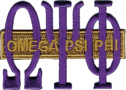 View Buying Options For The Omega Psi Phi Long Bar Iron-On Patch