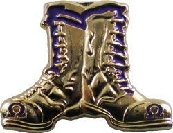 View Buying Options For The Omega Psi Phi Gold Boots Lapel Pin