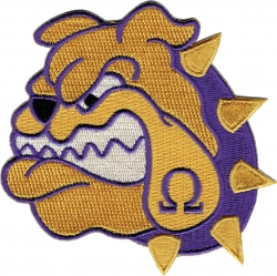 View Product Detials For The Omega Psi Phi Bulldog Face Iron-On Patch