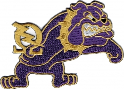 View Buying Options For The Omega Psi Phi Que Bolt Bulldog Iron-On Patch
