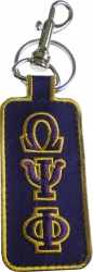 View Buying Options For The Omega Psi Phi Founded 1911 Embroidered Clip Keychain