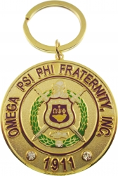 View Buying Options For The Omega Psi Phi Fraternity, Inc. Rhinestone Keychain