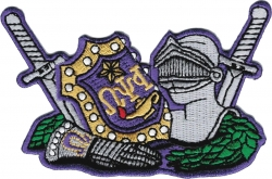 View Buying Options For The Omega Psi Phi Armor Escutcheon Shield Iron-On Patch
