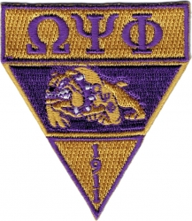 View Buying Options For The Omega Psi Phi Military Style Iron-On Patch
