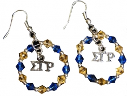 View Buying Options For The Sigma Gamma Rho Crystal Circle Earrings