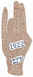 View Buying Options For The Sigma Gamma Rho Hand Sign Year 1922 Rhinestud Heat Transfer