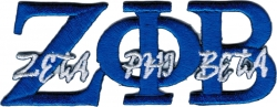 View Buying Options For The Zeta Phi Beta Script Iron-On Patch