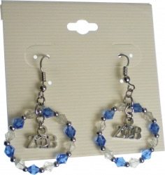 View Buying Options For The Zeta Phi Beta Crystal Circle Earrings