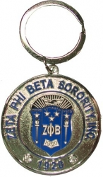 View Buying Options For The Zeta Phi Beta Sorority, Inc. Rhinestone Round Keychain