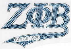 View Buying Options For The Zeta Phi Beta Since 1920 Athletic Tail Rhinestud Heat Transfer