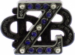 View Buying Options For The Zeta Phi Beta Stacked 3D Letter 5 Pearl Lapel Pin