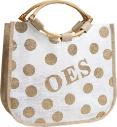 View Buying Options For The Eastern Star Polka Dot Ladies Jute Bag