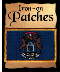View Buying Options For The Michigan State Flag Iron-On Patch [Pre-Pack]