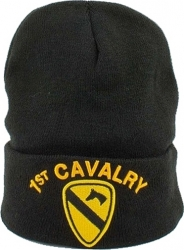 View Buying Options For The 1st Cavalry Emblem Cuff Beanie Cap