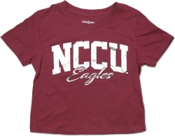 View Buying Options For The Big Boy North Carolina Central Eagles Foil Cropped Ladies Tee