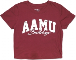 View Buying Options For The Big Boy Alabama A&M Bulldogs Foil Cropped Ladies Tee
