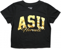 View Buying Options For The Big Boy Alabama State Hornets Foil Cropped Ladies Tee