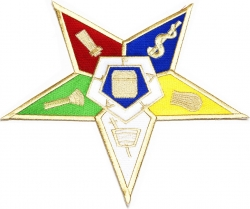 View Buying Options For The Eastern Star Symbol Iron-On Patch