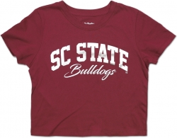 View Buying Options For The Big Boy South Carolina State Bulldogs Foil Cropped Ladies Tee