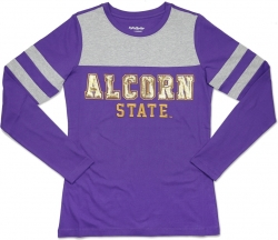 View Buying Options For The Big Boy Alcorn State Braves Ladies Long Sleeve Tee