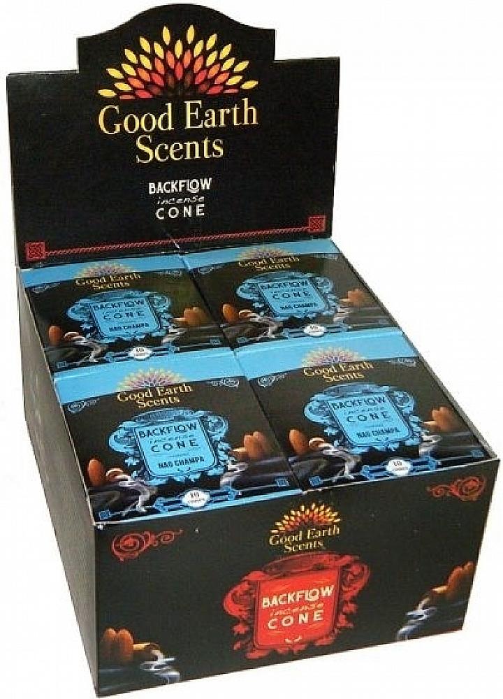 Good Earth Scents Nag Champa Backflow Incense Cones [12 Boxe