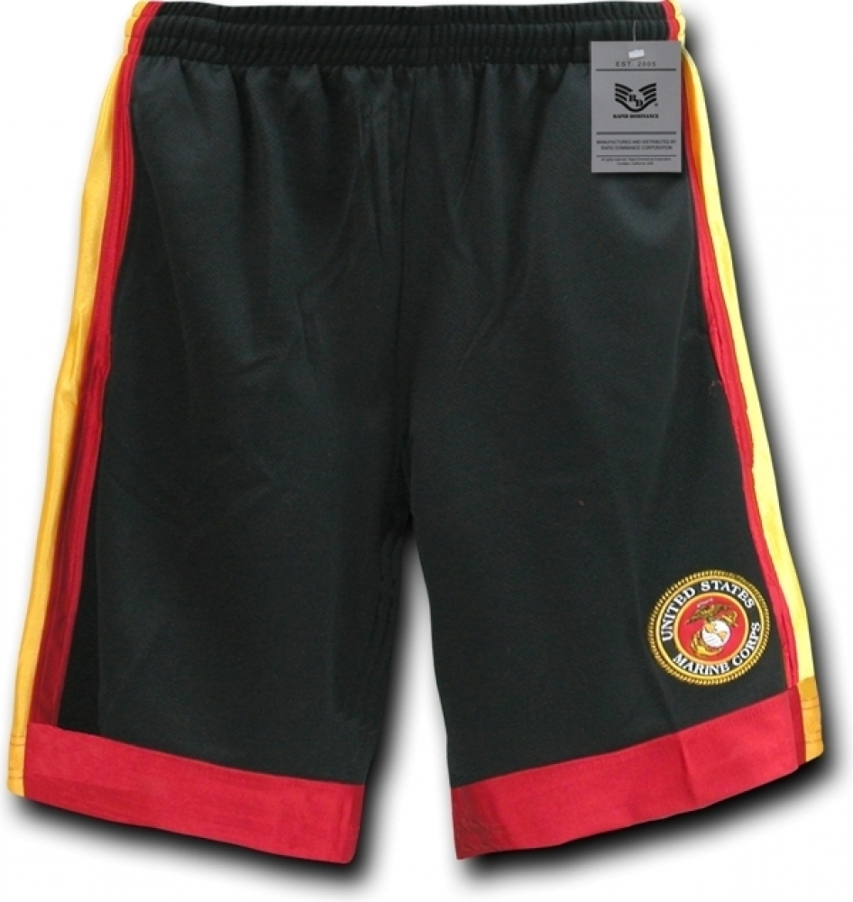 0f232bb7fec10c RapDom Marine Corps Logo Basketball Shorts Mens nyhwiq19067-Shorts ...