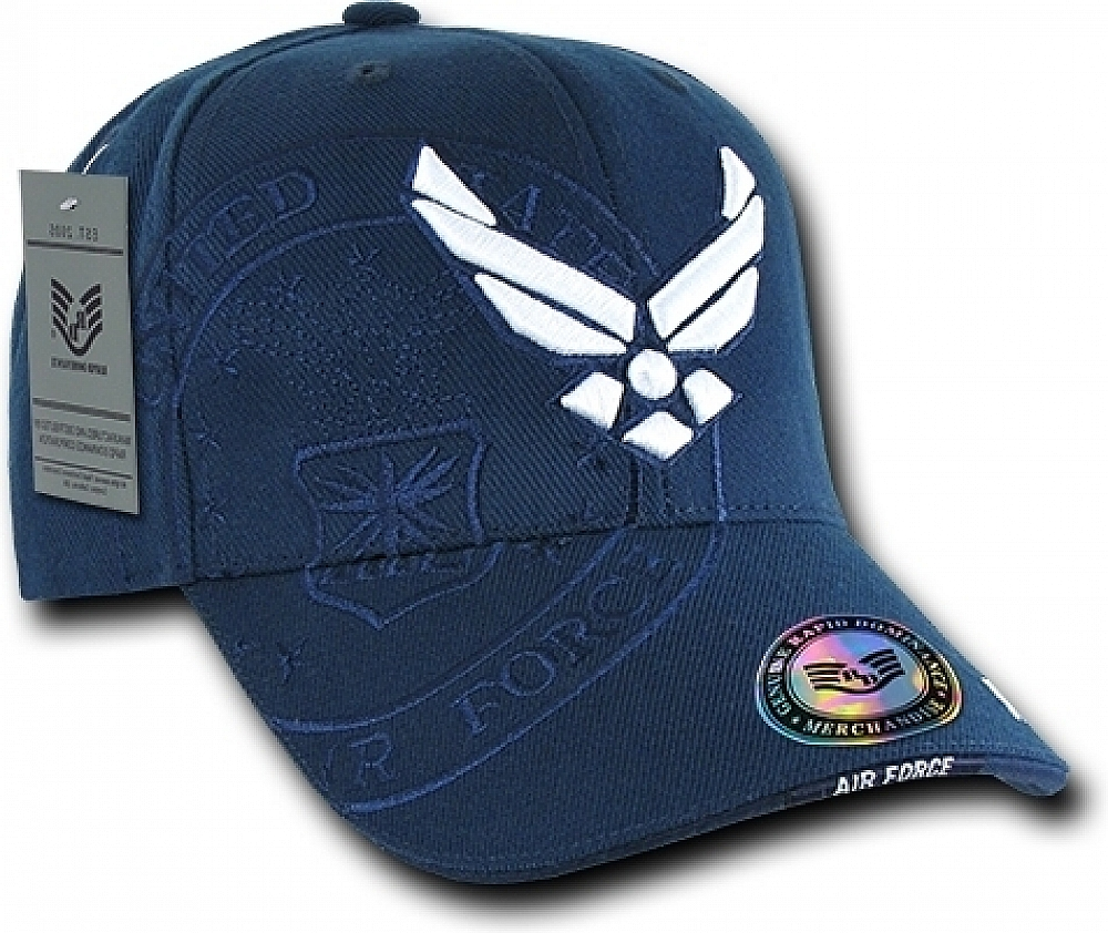 RapDom Air Force Hap Wings Shadow Mens Cap Navy Blue - Adjustable