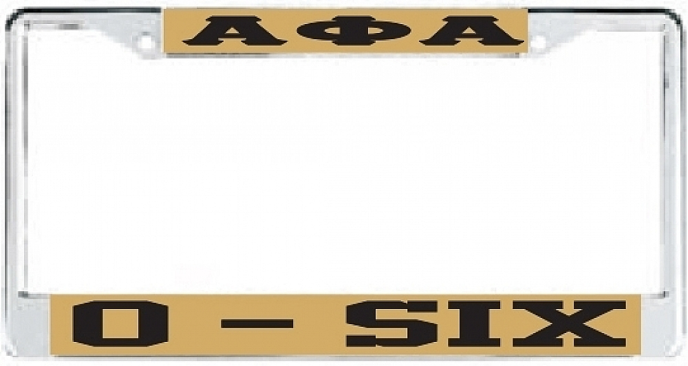 Alpha Phi Alpha O-Six License Plate Frame | eBay