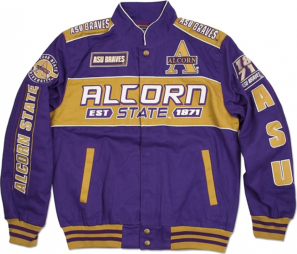 Big Boy Alcorn State Braves S11 Mens NASCAR Racing Twill Jac
