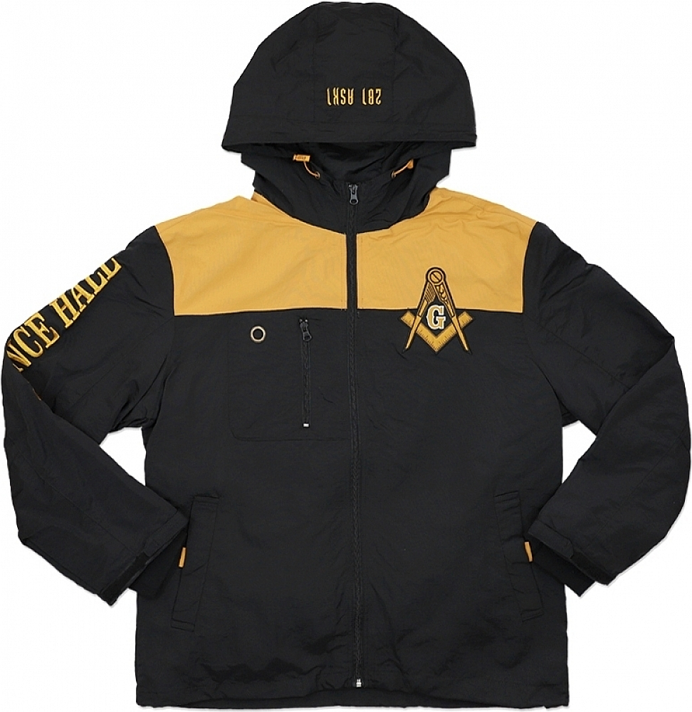Big Boy Prince Hall Mason Divine S4 Mens Hooded Windbreaker