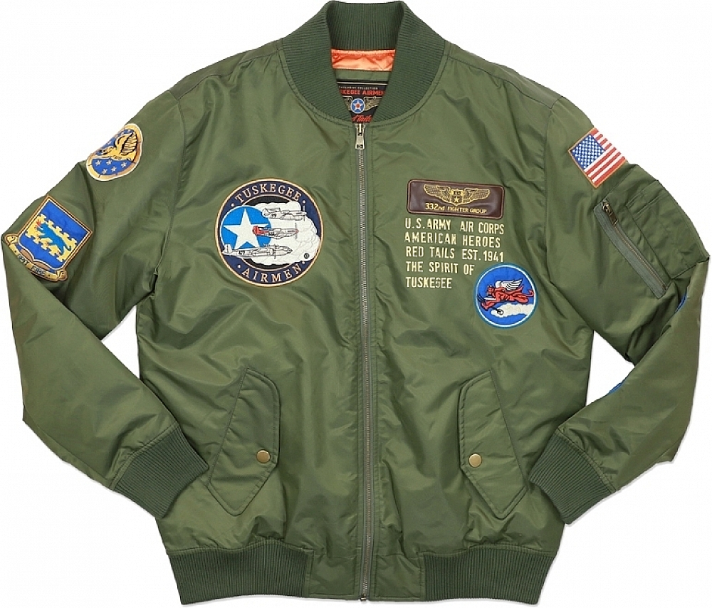 Big Boy Tuskegee Airmen Bomber Flight S2 Mens Jacket