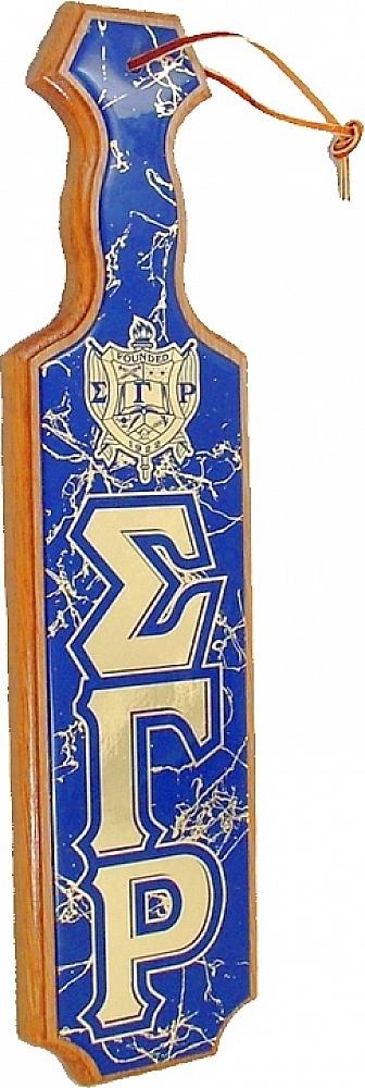 Sigma Gamma Rho Rho Rho Crest Domed Paddle b289a9