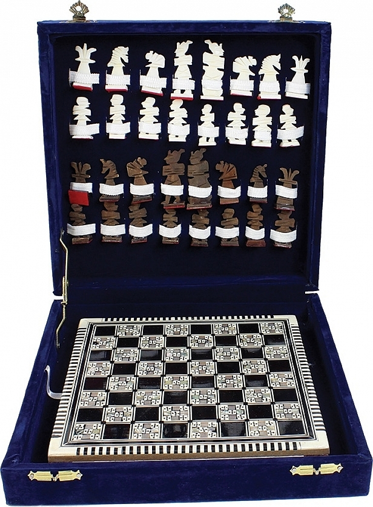 Egyptian Mother of  Pearl Chess Set  achats en ligne de sport